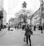 Estrasburgo Francia después de attentados terroristas en el mercado de la Navidad imágenes de archivo libres de regalías