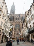 Estrasburgo Francia después de attentados terroristas en el mercado de la Navidad imagen de archivo