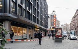 Estrasburgo Francia después de attentados terroristas en el mercado de la Navidad foto de archivo libre de regalías