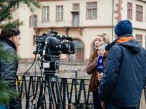 Estrasburgo Francia después de attentados terroristas en el mercado de la Navidad fotografía de archivo