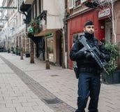Estrasburgo Francia después de attentados terroristas en el mercado de la Navidad fotografía de archivo libre de regalías