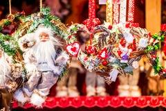 Estrasburgo - mercado de la Navidad, Francia fotografía de archivo libre de regalías