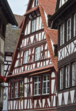 Estrasburgo, parte de la casa agradable en el área de Petite France Imagen de archivo libre de regalías