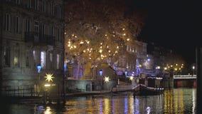 estrasburgo Quay St Thomas almacen de metraje de vídeo
