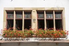 Estrasburgo - ventana Foto de archivo