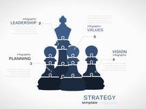 Estratégia da liderança Foto de Stock
