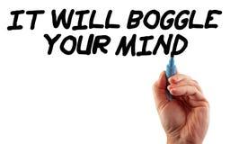 Estratégia da mão Boggle sua mente Fotos de Stock