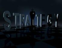 Estratégia da xadrez/jogo de negócio ilustração stock