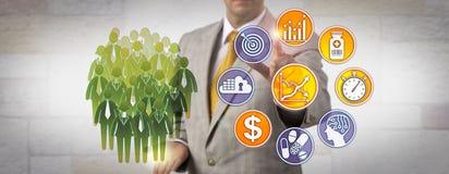 Estratégia de Determining Drug Pricing do administrador foto de stock