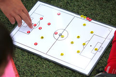 Estratégia de Footbal Foto de Stock