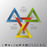 Estratégia de Infographic no triângulo Negócio bem sucedido Vetor Imagens de Stock Royalty Free