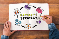 Estratégia de marketing imagens de stock