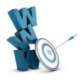 Estratégia de marketing da Web, negócio do Internet ilustração stock