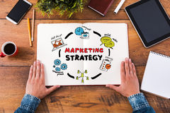 Estratégia de marketing do planeamento fotografia de stock royalty free
