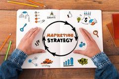 Estratégia de marketing do planeamento fotos de stock royalty free