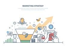 Estratégia de marketing, pesquisa econômica do funil das vendas Crescimento do investimento da gestão ilustração royalty free