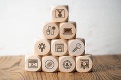 Estratégia de SEO com componentes para o mercado bem sucedido foto de stock royalty free