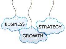 Estratégia do crescimento do negócio na bandeira da nuvem ilustração stock