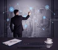 Estratégia do desenho do vendedor na reunião do escritório Imagem de Stock Royalty Free