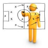 Estratégia do futebol Imagens de Stock Royalty Free