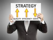 Estratégia do homem de negócio Fotos de Stock Royalty Free