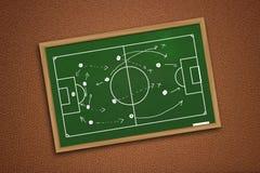 Estratégia do jogo do futebol ou de futebol Fotos de Stock Royalty Free