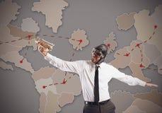 Estratégia do mercado mundial Imagens de Stock Royalty Free