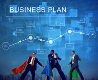 A estratégia do plano de negócios conceitua o conceito da analítica fotografia de stock