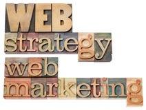 Estratégia e mercado da Web Imagens de Stock Royalty Free