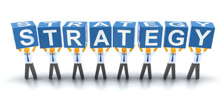 Estratégia empresarial Fotografia de Stock