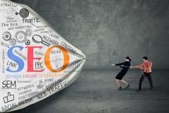 Estratégia empresarial com conceito do seo Fotografia de Stock Royalty Free