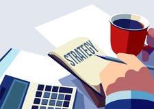 Estratégia empresarial e conceito da sessão de reflexão Imagem de Stock Royalty Free