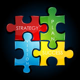 Estratégia empresarial e planta Imagem de Stock