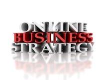 Estratégia empresarial em linha ilustração stock