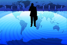 Estratégia empresarial global Imagem de Stock
