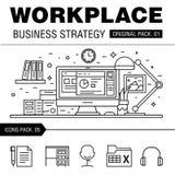 Estratégia empresarial moderna do local de trabalho Imagem de Stock