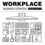 Estratégia empresarial moderna do local de trabalho Fotos de Stock Royalty Free