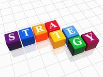 Estratégia na cor Imagens de Stock