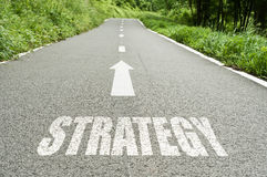 Estratégia na estrada Imagem de Stock
