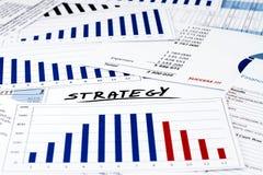 Estratégia no negócio e na finança Fotografia de Stock