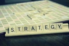 Estratégia - plano de negócios Imagens de Stock Royalty Free