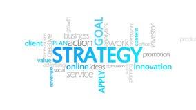 Estratégia, tipografia animado ilustração do vetor
