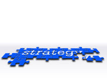 Estrategia común stock de ilustración