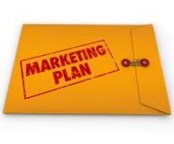 Estrategia confidencial del secreto del sobre del plan de márketing Imagen de archivo