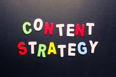 Estrategia contenta Imagen de archivo libre de regalías