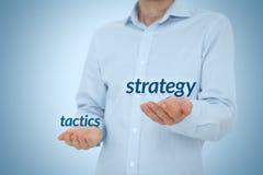 Estrategia contra táctica Imágenes de archivo libres de regalías