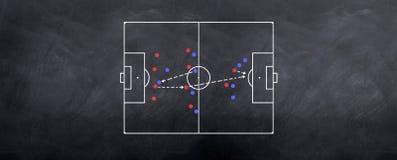 Estrategia contraria del fútbol que ataca Imagen de archivo
