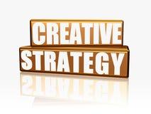Estrategia creativa - bloques de oro Imagen de archivo libre de regalías