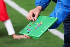 Estrategia de Footbal Fotos de archivo