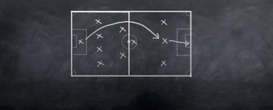 Estrategia de la meta del fútbol Foto de archivo